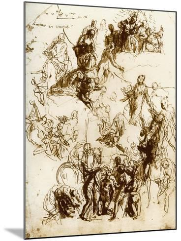 Sketch for the Martyrdom of St George, 1913-Paolo Veronese-Mounted Giclee Print