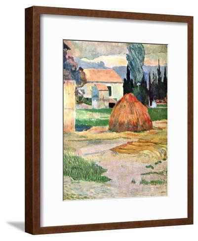 Landscape in Brittany, 1888-Paul Gauguin-Framed Art Print