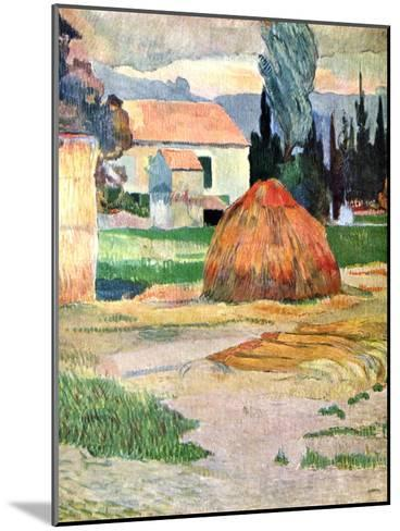 Landscape in Brittany, 1888-Paul Gauguin-Mounted Giclee Print