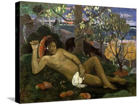 Te Arii Vahine (Woman of Royal Blood, the Queen, the King's Wife), 1896-Paul Gauguin-Stretched Canvas Print