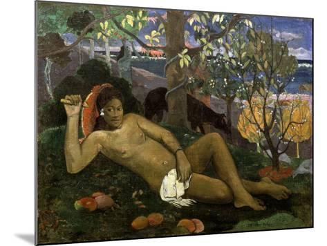 Te Arii Vahine (Woman of Royal Blood, the Queen, the King's Wife), 1896-Paul Gauguin-Mounted Giclee Print