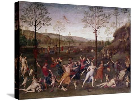 The Battle of Love and Chastity, 1504-1523-Perugino-Stretched Canvas Print