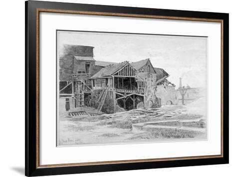View of the Old Lime Works, Nine Elms, Battersea, London, 1875-Philip Howard-Framed Art Print