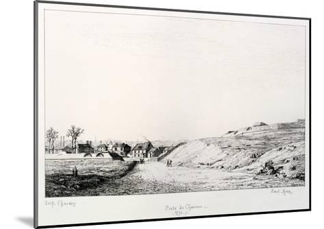 Poste De Charonne, Siege of Paris, 1870-1871-Paul Roux-Mounted Giclee Print