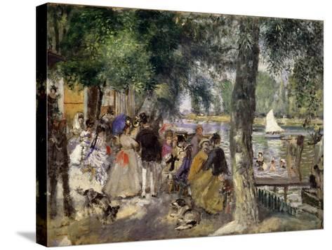 Bathing on the Seine (La Grenouill?r), 1869-Pierre-Auguste Renoir-Stretched Canvas Print