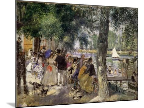 Bathing on the Seine (La Grenouill?r), 1869-Pierre-Auguste Renoir-Mounted Giclee Print