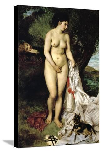 Bather (La Baigneuse Au Griffon), 1870-Pierre-Auguste Renoir-Stretched Canvas Print
