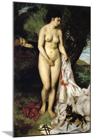 Bather (La Baigneuse Au Griffon), 1870-Pierre-Auguste Renoir-Mounted Giclee Print