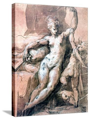 Venus and Child, C1513-1540-Parmigianino-Stretched Canvas Print