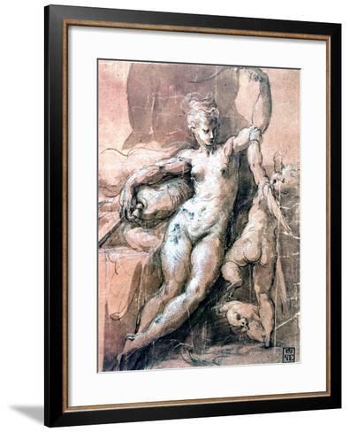 Venus and Child, C1513-1540-Parmigianino-Framed Art Print