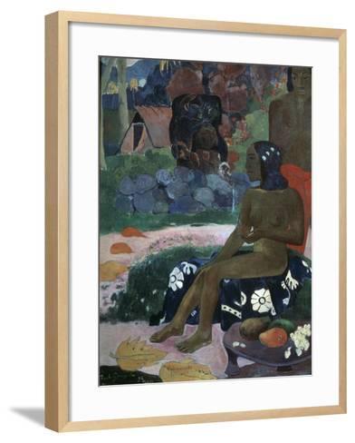 Vairaumati Tei Oa (Her Name Is Vairaumat), 1892-Paul Gauguin-Framed Art Print