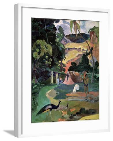 Matamoe (Death, Landscape with Peacock), 1892-Paul Gauguin-Framed Art Print