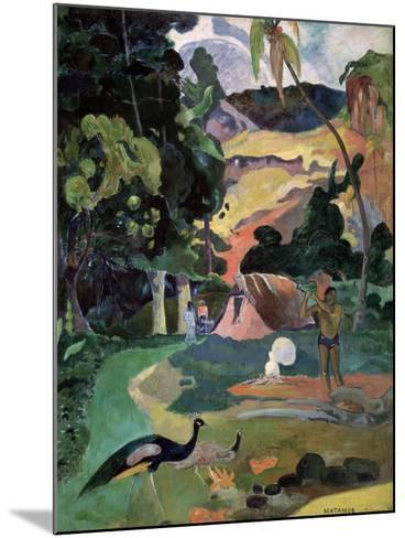 Matamoe (Death, Landscape with Peacock), 1892-Paul Gauguin-Mounted Giclee Print