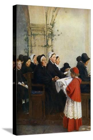 The Blessed Bread, C1879-Pascal Adolphe Jean Dagnan-Bouveret-Stretched Canvas Print