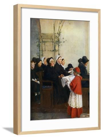 The Blessed Bread, C1879-Pascal Adolphe Jean Dagnan-Bouveret-Framed Art Print