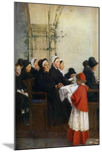 The Blessed Bread, C1879-Pascal Adolphe Jean Dagnan-Bouveret-Mounted Giclee Print