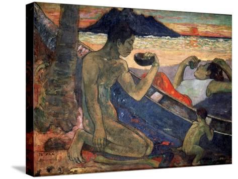 Te Vaa (The Cano), 1896-Paul Gauguin-Stretched Canvas Print