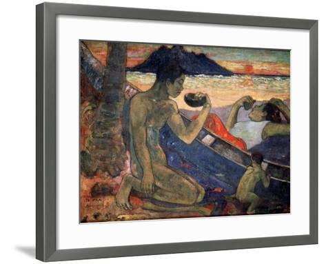 Te Vaa (The Cano), 1896-Paul Gauguin-Framed Art Print