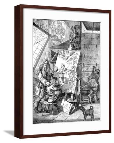 Burlesque Sur Le Burlesque, 1753-Paul Sandby-Framed Art Print