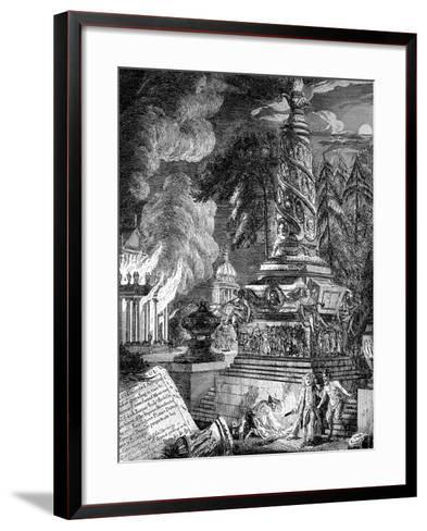 The Burning of the Temple at Ephesus, 1753-Paul Sandby-Framed Art Print