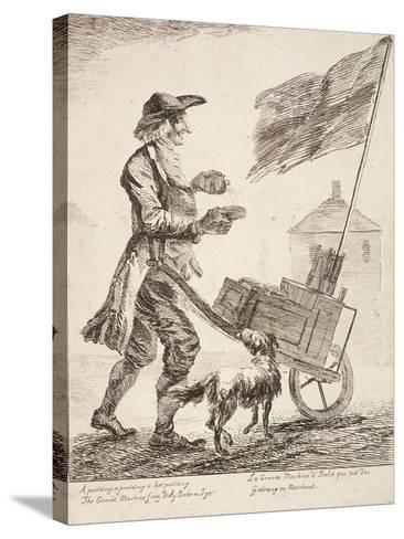 Pudding Seller, Cries of London, 1760-Paul Sandby-Stretched Canvas Print