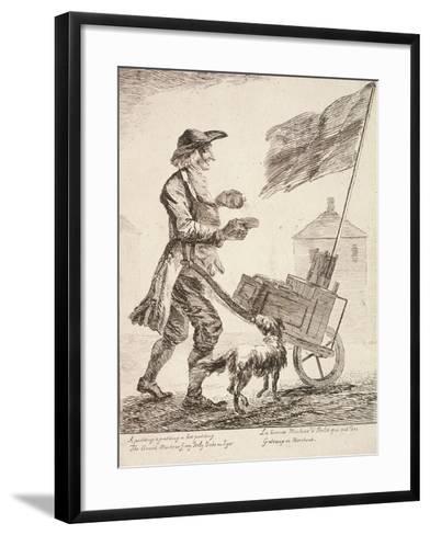 Pudding Seller, Cries of London, 1760-Paul Sandby-Framed Art Print
