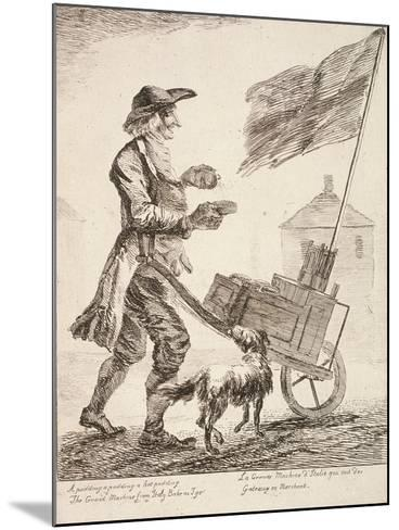 Pudding Seller, Cries of London, 1760-Paul Sandby-Mounted Giclee Print