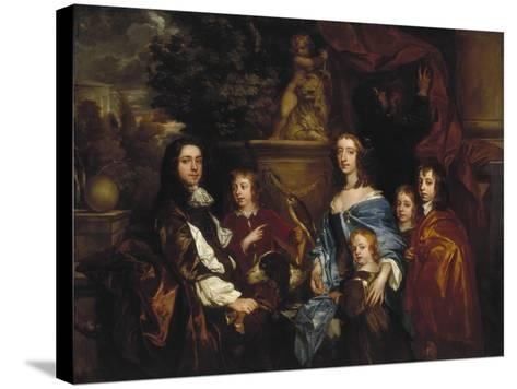Sir Edward Hales and His Family, 1656-Peter Lely-Stretched Canvas Print