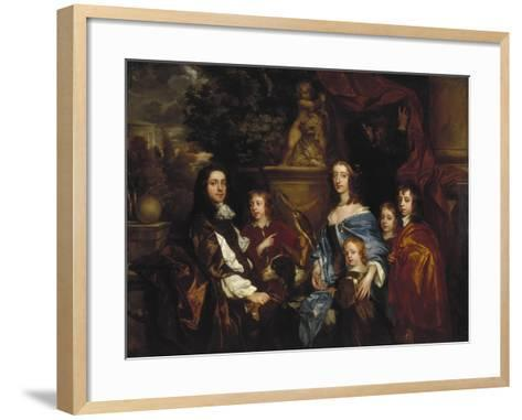 Sir Edward Hales and His Family, 1656-Peter Lely-Framed Art Print