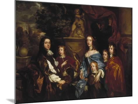 Sir Edward Hales and His Family, 1656-Peter Lely-Mounted Giclee Print