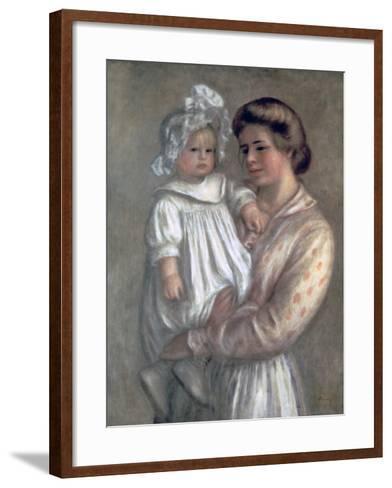 Claude and Renee, 1904-Pierre-Auguste Renoir-Framed Art Print