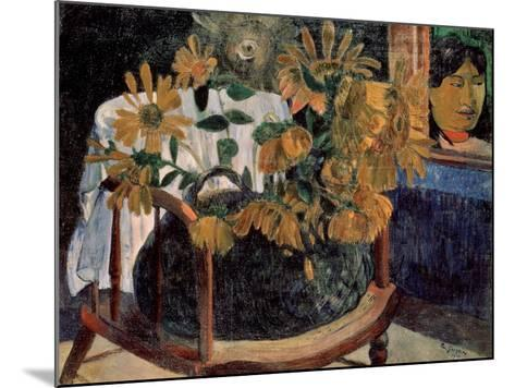 The Sunflowers, 1901-Paul Gauguin-Mounted Giclee Print