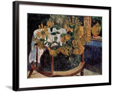 The Sunflowers, 1901-Paul Gauguin-Framed Art Print
