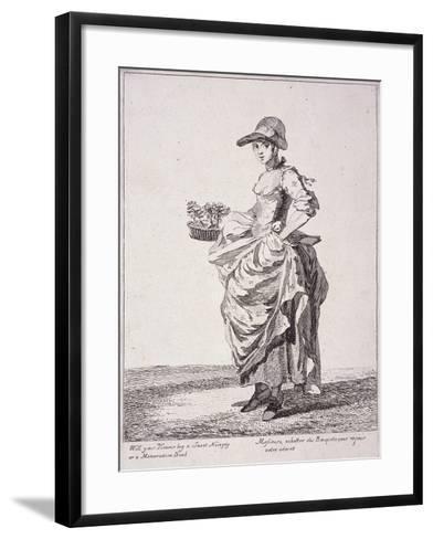 Nosegay and Memo Book Seller, Cries of London, 1760-Paul Sandby-Framed Art Print