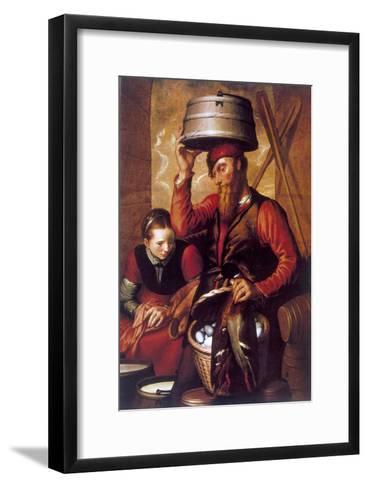 The Game Dealer, 16th Century-Pieter Aertsen-Framed Art Print