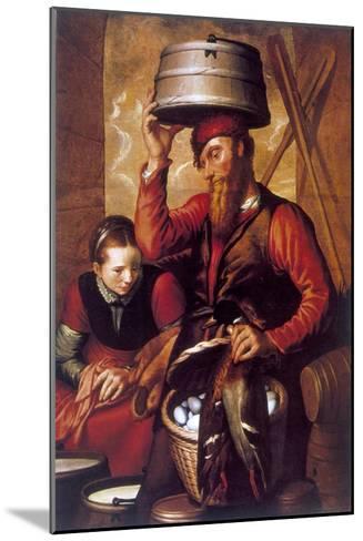 The Game Dealer, 16th Century-Pieter Aertsen-Mounted Giclee Print