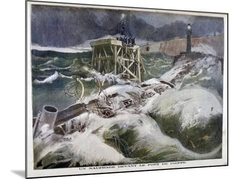 A Shipwreck in Front of the Port of Dieppe, 1899-Oswaldo Tofani-Mounted Giclee Print