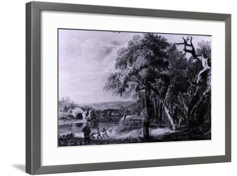 Woodcutters Near a River, 1755-Paul Sandby-Framed Art Print