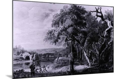 Woodcutters Near a River, 1755-Paul Sandby-Mounted Giclee Print