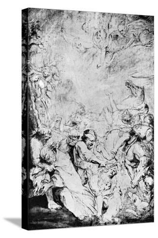 Sketch of the Martydom of St Livinus, C1633-Peter Paul Rubens-Stretched Canvas Print