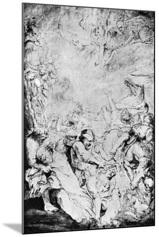 Sketch of the Martydom of St Livinus, C1633-Peter Paul Rubens-Mounted Giclee Print