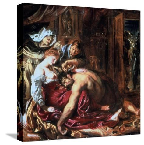 Samson and Delilah, C1609-1610-Peter Paul Rubens-Stretched Canvas Print