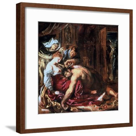 Samson and Delilah, C1609-1610-Peter Paul Rubens-Framed Art Print