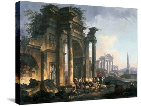 L'Arc De Triomphe, C1740-1807-Pierre Antoine De Machy-Stretched Canvas Print