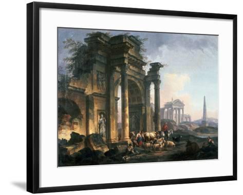 L'Arc De Triomphe, C1740-1807-Pierre Antoine De Machy-Framed Art Print