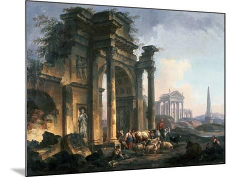 L'Arc De Triomphe, C1740-1807-Pierre Antoine De Machy-Mounted Giclee Print