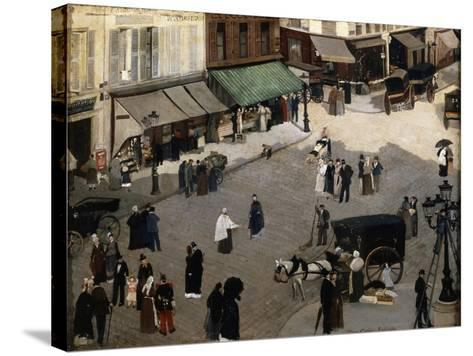 The Place Pigalle in Paris, 1880S-Pierre Carrier-belleuse-Stretched Canvas Print