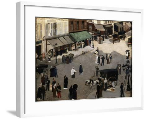 The Place Pigalle in Paris, 1880S-Pierre Carrier-belleuse-Framed Art Print