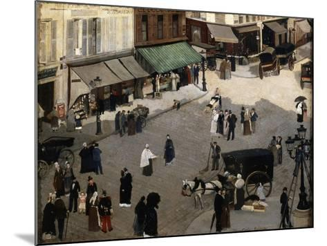 The Place Pigalle in Paris, 1880S-Pierre Carrier-belleuse-Mounted Giclee Print