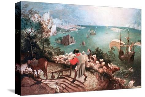 Landscape with the Fall of Icarus, C1555-Pieter Bruegel the Elder-Stretched Canvas Print